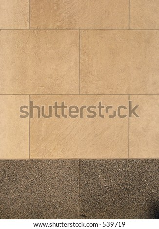 limestone wall - stock photo