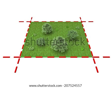 limited part of the land - stock photo
