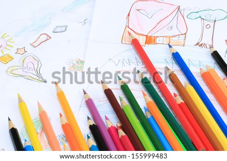 Limitless imagination. Development of preschool children. - stock photo
