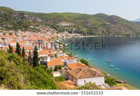 Limni village, Euboea, Greece - stock photo