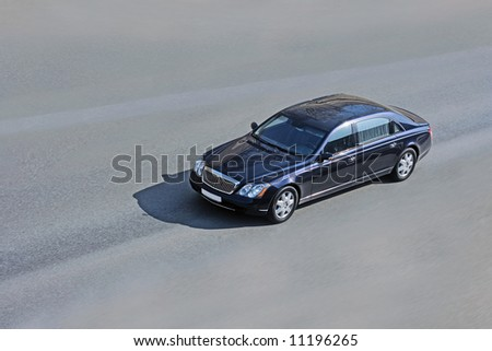 limo on road - stock photo