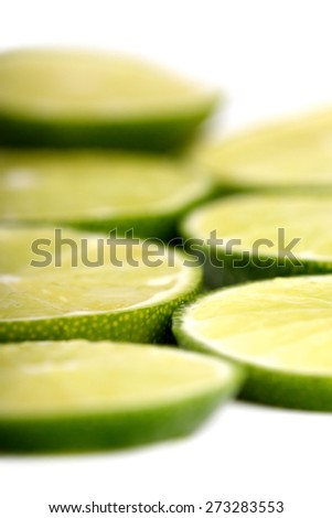 Limon on white background - close-up - stock photo