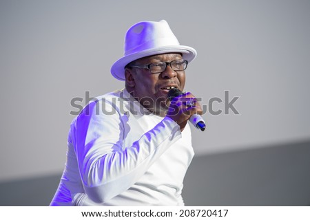 LINCOLN, CA - August 1: Bobby Brown of New Edition performs at Thunder Valley Casino Resort in Lincoln, California on August 1, 2014 - stock photo