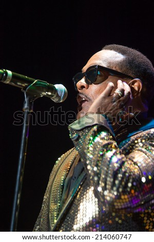 LINCOLN, CA - August 29: Charlie Wilson performs at Thunder Valley Casino Resort in Lincoln, California on August 29, 2014 - stock photo