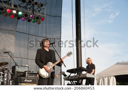 LINCOLN, CA - July 19: Martha Davis and the Motels perform in support of the Replay America Tour at Thunder Valley Casino Resort in Lincoln, California on July 19, 2014 - stock photo