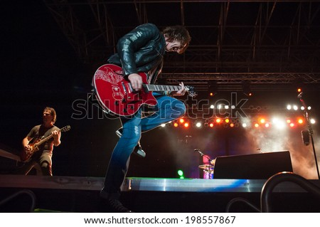 LINCOLN, CA - June 7: Rick Springfield opens Thunder Valley Casino's 2014 Summer Concert Series with Eddie Money and Loverboy at Thunder Valley Casino Resort in Lincoln, California on June 7, 2014 - stock photo