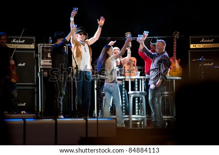 LINCOLN, CA - SEPT 16: Big & Rich perform at Thunder Valley Casino and Resort in Lincoln, California on September 16th, 2011 - stock photo