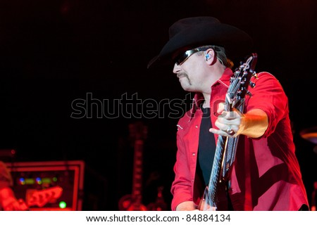 LINCOLN, CA - SEPT 16: John Rich with Big & Rich perform at Thunder Valley Casino and Resort in Lincoln, California on September 16th, 2011 - stock photo