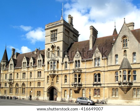 Lincoln College, Oxford University, Oxfordshire, England UK was founded in 1427 by Richard Fleming the Bishop of Lincoln and is the ninth oldest of the colleges - stock photo