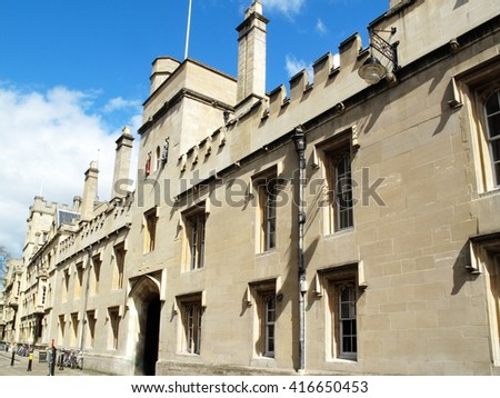 Lincoln College, Oxford University, Oxfordshire, England UK was founded in 1427 by Richard Fleming the Bishop of Lincoln and is the ninth oldest oldest of the colleges - stock photo