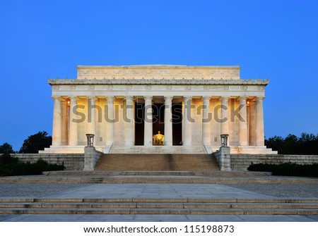 Lincoln Memorial at Dawn - stock photo