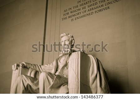 Lincoln Memorial in Washington DC - stock photo