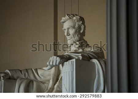 Lincoln Memorial in Washington, DC - stock photo