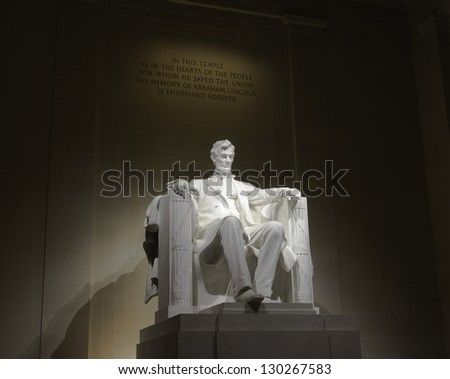 Lincoln memorial statue, USA, Washington, DC - stock photo