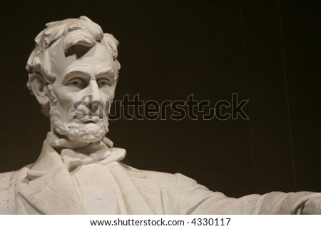 lincoln memorial statue with copyspace - stock photo