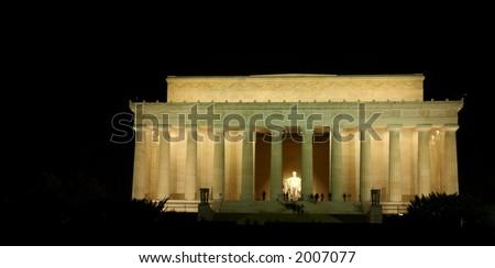 Lincoln Memorial, Washington, DC at night - stock photo