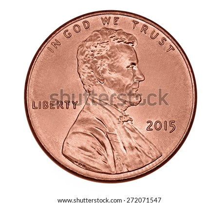 Lincoln 2015 penny - stock photo