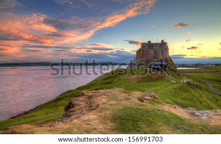 Lindisfarne Castle / Lindisfarne Castle / Holy Island - stock photo