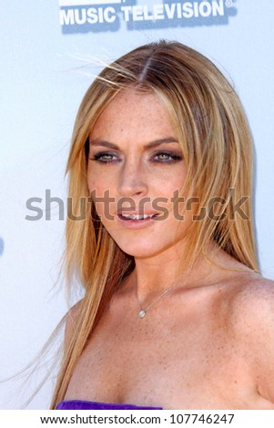 Lindsay Lohan  at the 2008 MTV Movie Awards. Gibson Amphitheatre, Universal City, CA. 06-01-08 - stock photo
