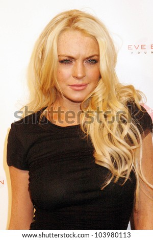 Lindsay Lohan at the Rock The Kasbah Gala to benefit Virgin Unite and the Eve Branson Foundation. Vibiana, Los Angeles, CA. 10-26-09 - stock photo