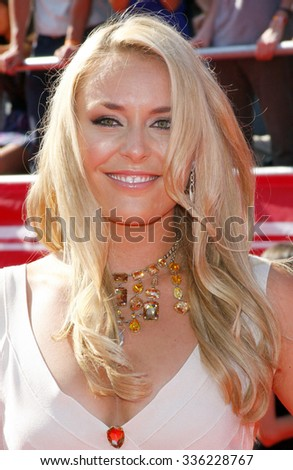 Lindsey Vonn at the 2012 ESPY Awards held at the Nokia Theatre L.A. Live in Los Angeles, USA on July 11, 2012. - stock photo