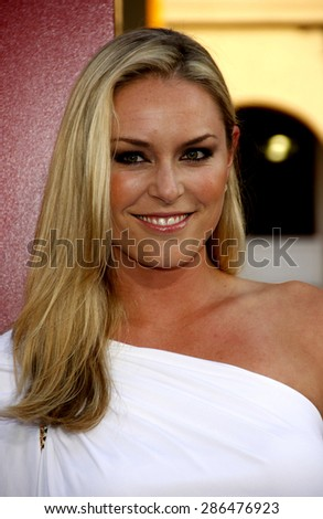 Lindsey Vonn at the Los Angeles premiere of 'The Hangover Part II' held at the Grauman's Chinese Theatre in Hollywood on May 19, 2011.  - stock photo