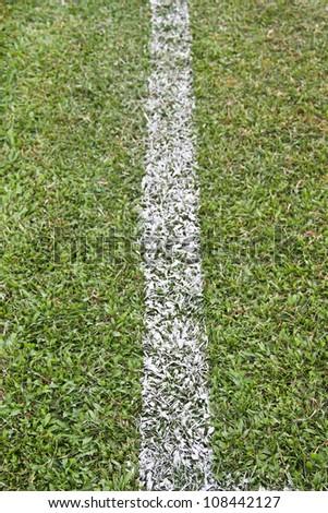 Line a football field - stock photo