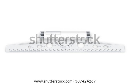 Line drawing isolated on white background. Front view. 3d rendering. - stock photo