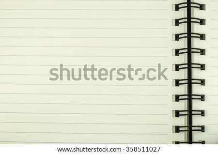 line open green read notebook texture soft paper - stock photo