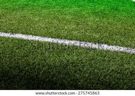 line soccer field - stock photo