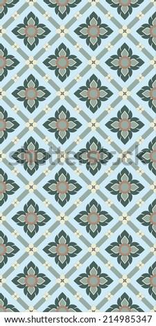 Line thai pattern background - stock photo