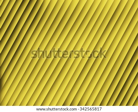 Linear abstract texture. Geometric stripes with modern stylish texture. Tiles with volume diagonal lines. Abstract diagonal striped background with volume optic illusion. Decorative diagonal gold line - stock photo
