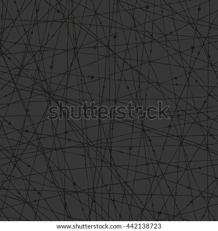 Linear dark network texture with dots. Background for wallpapers, cards, arts, textile - stock photo