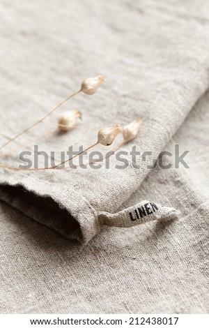 linen fabric - stock photo