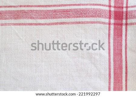 linen kitchen towel - stock photo