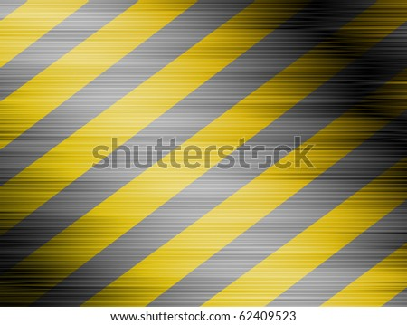Lines of caution over background yellow con lines black - stock photo