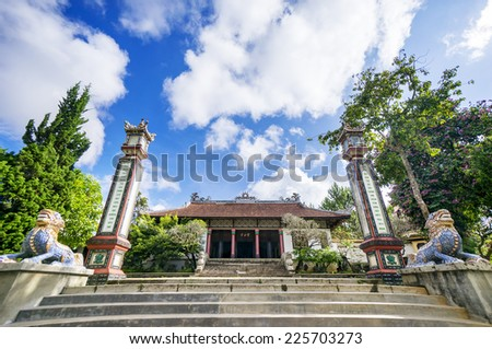 Linh Son pagoda in Da lat, Vietnam. There are many pagoda in Da Lat - stock photo