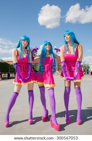 LINKOPING, SWEDEN - JULY 24: Unidentified young people in Swedish character cosplay event. The official name in narcom and organization is nordic cosplay championship in Linkoping Sweden July 15, 2015 - stock photo