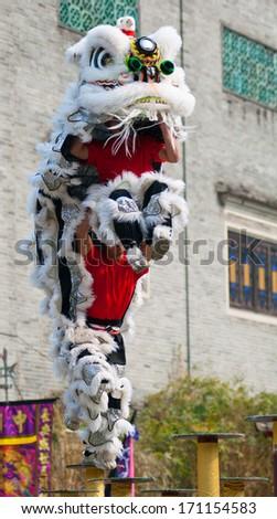Lion Dance - stock photo