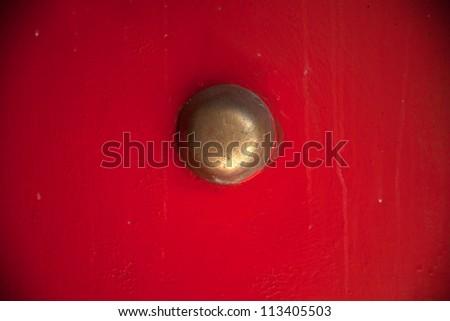 lion door decoration/door knocker - stock photo