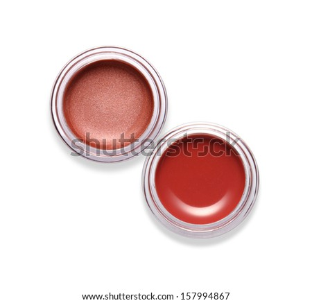 Lip gloss isolated on white  - stock photo