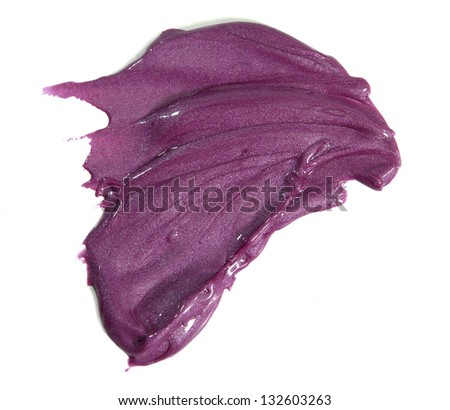 Lipgloss color sample - stock photo