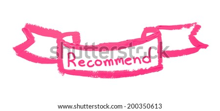 lipsticks paint with recommend - stock photo