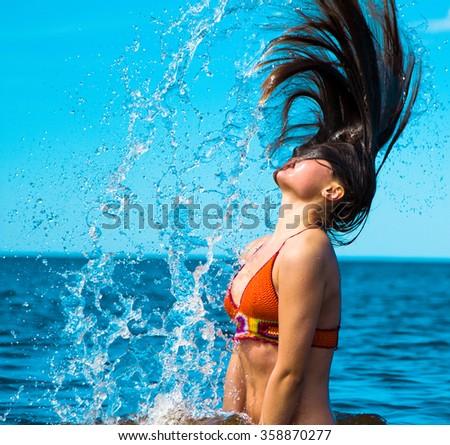 Liquid Happiness Sunlight Around Me  - stock photo