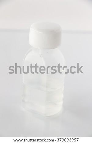 Liquid medicine bottle - stock photo