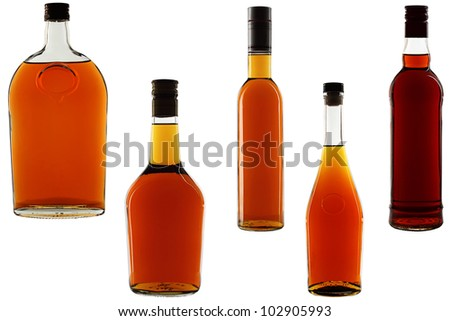 Liquor. - stock photo