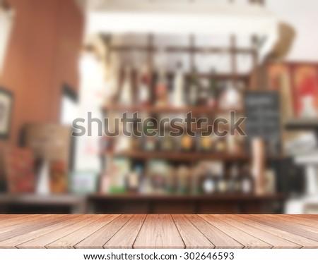 Liquor store Blurred Background - stock photo