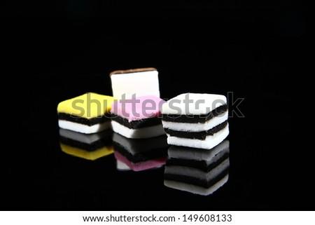 liquorice sweets - stock photo