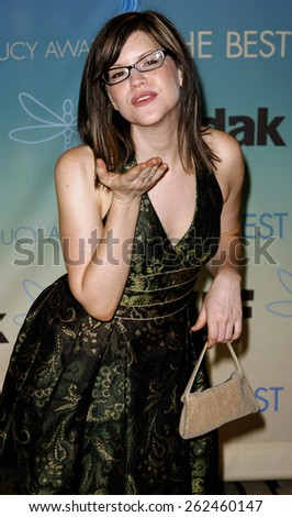 Lisa Loeb attends Women In Film Presents The 2007 Crystal and Lucy Awards held at the Beverly Hilton Hotel in Beverly Hills, California, California, on June 14, 2006.  - stock photo
