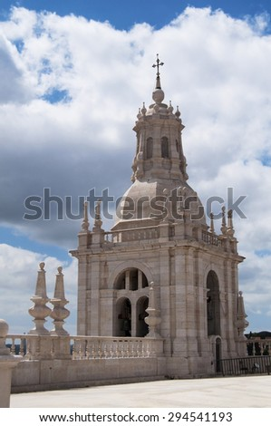 lisbon city portugal San Vincente de Fora church landmark architecture - stock photo